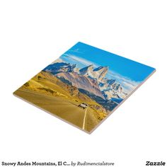 Snowy Andes Mountains, El Chalten, Argentina Ceramic Tile