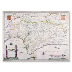 'Map of Andalusia, Spain' Art