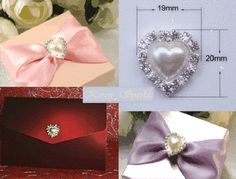 Heart slider with diamantes and pearl centre
