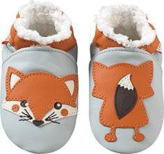 2b4ea50205d57 Chaussons Bébé en cuir doux Renard 12 18 mois  Amazon.fr  Chaussures ...