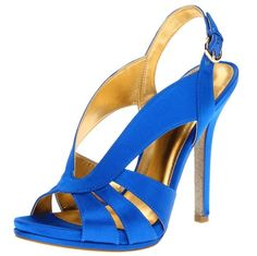 satin blue high heel shoes - prom party special occasion shoe for women