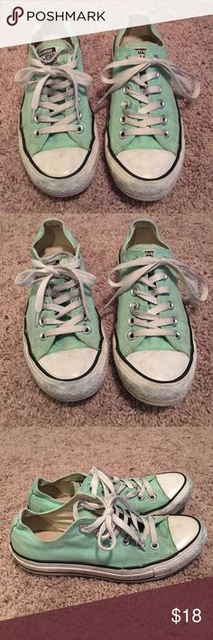 Mint Colored Converse Sz 7 Used converse.  These could use a clean up! Please see all pictures for condition. Converse Shoes Athletic Shoes