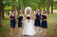 Navy Lela Rose Bridesmaid Dresses