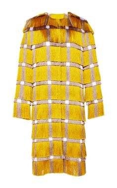 Fringe Cady Coat In Yellow by Marco de Vincenzo for Preorder on Moda Operandi