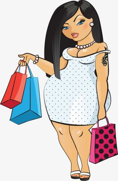 Black Girl Art, Black Women Art, Art Girl, Pinup, Plus Size Art, Fat Art, Girl Clipart, Fat Women, Woman Drawing