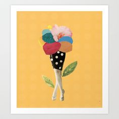 all flowers in time bend towards the sun Art Print by Cardboardcities - $18.00
