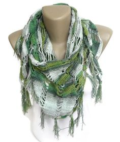 fashion scarfwomen scarf summer scarf scarve by senoAccessory Scarf Summer, Spring Scarves, Summer Accessories, Fashion Accessories, Cotton Scarf, Bridal Gifts, Crochet Scarves, Scarf Styles, Womens Scarves