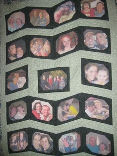 memory quilt made from photos