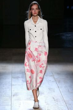 #MaartjeVerhoef for #VictoriaBeckham Spring 2015 #fashion show. #NYFW
