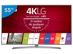 """Smart TV LED 55"""" LG 4K/Ultra HD 55UJ6585 webOS - Conversor Digital 2 USB 4 HDMI com as melhores condições você encontra no Magazine Ricardofernandes. Confira!"""