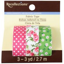 Recollections Fabric Tape, Pink & Green Floral