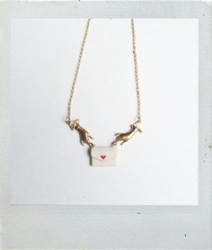 Image of Manitas y Sobre #necklace #quirky #loveletter