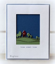 CC387 Home by Biggan - Cards and Paper Crafts at Splitcoaststampers - would make a great Christmas Card!