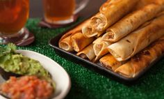 Chicken taquitos are a perfect game day food. We'll be sure to add these to our Big Game #party menu. ortega.com #SuperBowl #recipe