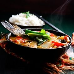 A Mild Spicy Fish Stew With Flavors Of Asian Cuisine This Is A Healthy Fast And Easy One Pot Meal Recipe Great For Lent