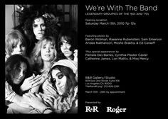 Poster: Legendary Photographers of the 60's and 70's (Groupies) Photo Exhibit. March 15-26 2010 R&R Gallery/Stuido Los Angeles, Ca. (GTO's by Baron Wolman)