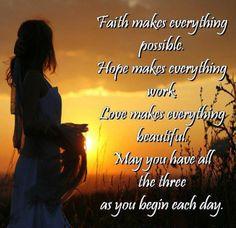 Faith | Hope | Love  #faith #hope #love
