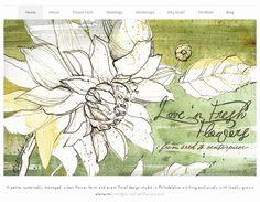 A Peek into the Studio  Website Artwork for Love n Fresh Flowers