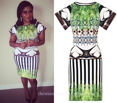 Mindy Kaling wears this print dress to the Made with Code kickoff. /// Clover Canyon Huntington Gardens Dress  Find the sleeveless version of th...