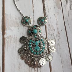 Electra Boho Necklace (Blue) – shopdevi