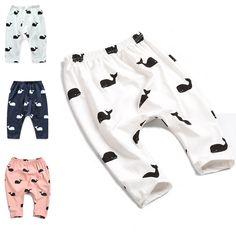 2015 New Kids Clothes 100%Cotton Whale Pants