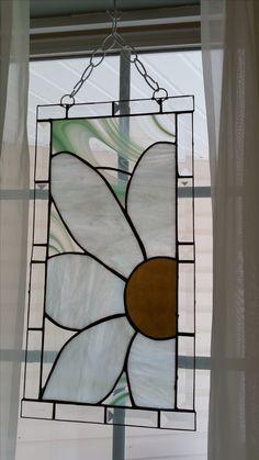 My stained glass white Daisy I made. Molly Hallmark