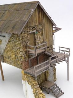 O scale Stone Building - Scratch Building & Kitbashing - Model Railroad Forums - Freerails