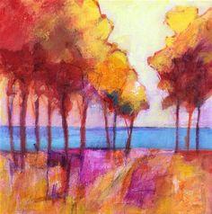 "Daily Paintworks - ""Fake Lake"" - Original Fine Art for Sale - © Patricia MacDonald"