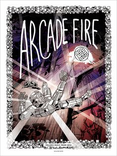 Arcade Fire gig poster by Jud Haynes