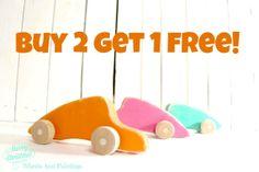 Buy 2 get 1 free  Porsche 911 wooden toy by Wheelsandpaintings, $48.00