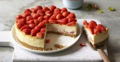 All in one Strawberry and White Chocolate Cheesecake