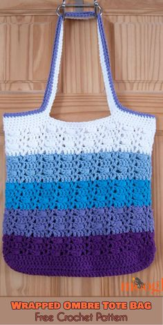 Wrapped Ombre Tote Bag [Free Crochet Pattern]