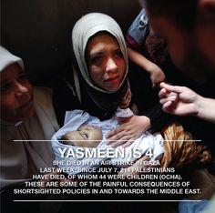 Photo Credit: Reuters #Palestine #Gaza #Attack #Murderers #Murder #Killing #Middleeast #children #baby #girl