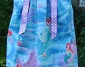 Pillowcase dress featuring Ariel the Little Mermaid - Sizes 3 months thur 6/7 :CH040/CH041. $19.99, via Etsy.