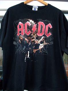 AC/DC Black Ice Tour 2009 Shirt rare vintage 2XL Mens Iron Maiden Guns N Roses Metallica The Rolling Stones by shirtsforeveryone17 on Etsy