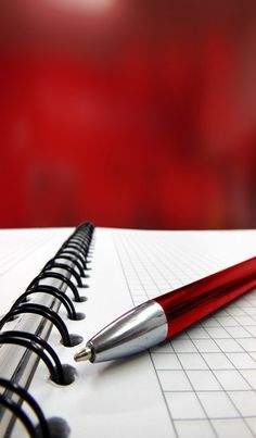 Red, Stylo, Rouge, carnet, notes