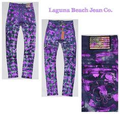 Purple Streak! Laguna Beach Jean Co. Foil Print Jeans 👖 https://lagunabeachjc.com/proddetail.php?prod=Redondo-Beach-Quilted-Foil-Moto-Purple-Tie-Dye%2F-Dark-Purple-Foil-Splatter #lbjcdenim