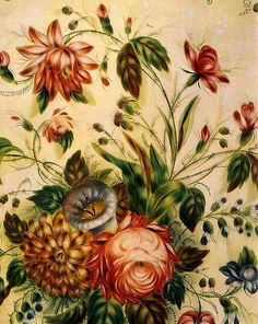 Россия.Жостово.Поднос овальный с изображением букета на белом фоне.1870