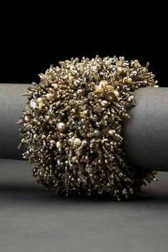 Grey Glamour Couture Cuff | Andrea Gutierrez Jewelry