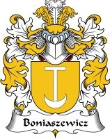 Boniaszewicz Coat of Arms / Polish family crest #heraldry #coat of arms #code of arms #genealogy #clan #crest #shield