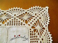 Risultati immagini per bico de croche de canto para toalha de mesa