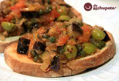 Cómo preparar una auténtica caponata siciliana. Receta con berenjenas sencillo, muy sano como la shakshuka o el pisto. Paso a paso con fotos y consejos.