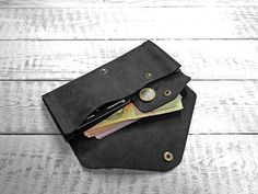 Womens leather wallet long leather wallet by MoonshineLeather