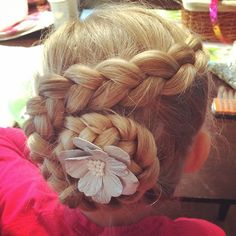"""16 Likes, 2 Comments - Christine (@tineylorraine) on Instagram: """"Kaley has gymnastics on Tuesdays so I always have to braid her hair! Here's today's…"""""""