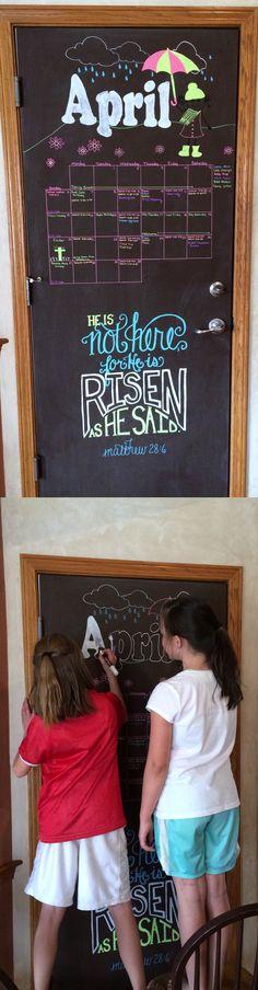 April 2014 Chalkboard Calendar