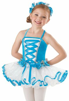 3-4 Ballet/Tap Girls' Flower Maid Tutu Dress; Weissman Costumes - $20