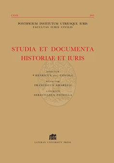 Studia et documenta historiae et iuris