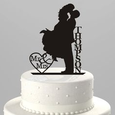 Exclusive Silhouette Wedding Cake Toppers & Event Decor by TrueloveAffair Cute Wedding Ideas, Wedding With Kids, Our Wedding, Dream Wedding, Silhouette Wedding Cake, Creative Wedding Cakes, Country Wedding Cakes, Acrylic Cake Topper, Personalized Cake Toppers