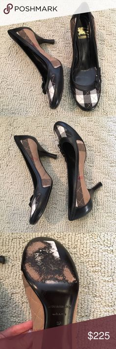 Authentic Burberry heels- size 37 (7)! Authentic Burberry heels- size 37 (7) slightly scuffed on bottom but otherwise great condition. Burberry Shoes Heels