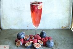 Raspberry Fig Prosecco Punch